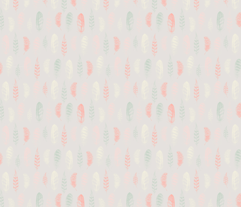 Feather Lines Cloud fabric by phirefly_print on Spoonflower - custom fabric