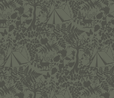 Forest Camp Earth fabric by phirefly_print on Spoonflower - custom fabric