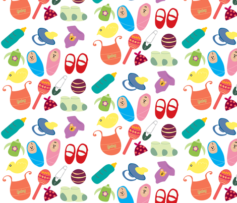 Baby-Things fabric by kellyhope12 on Spoonflower - custom fabric