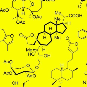 Molecules - Yellow - Large