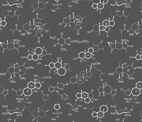 Molecules - Grey - Large fabric by thinlinetextiles on Spoonflower - custom fabric