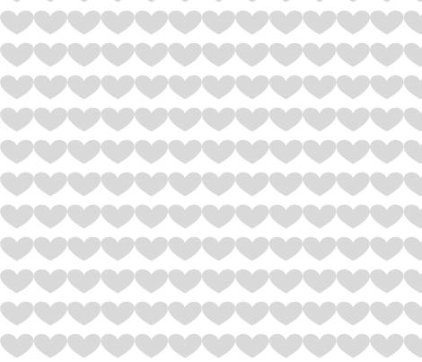 mini gray hearts fabric by dani_apple on Spoonflower - custom fabric