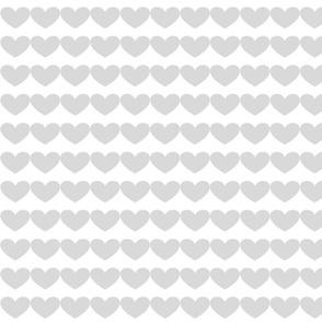 mini gray hearts