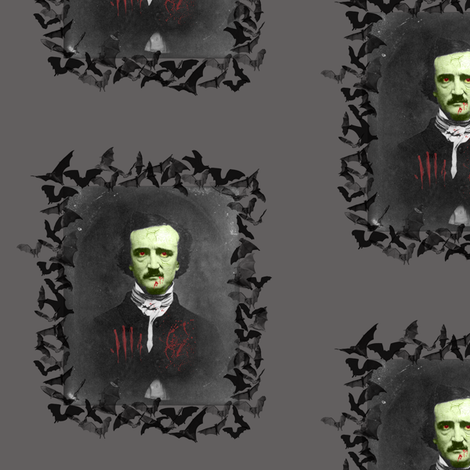 zombie-poe - Darker - Revised fabric by mimi_meow_meow on Spoonflower - custom fabric