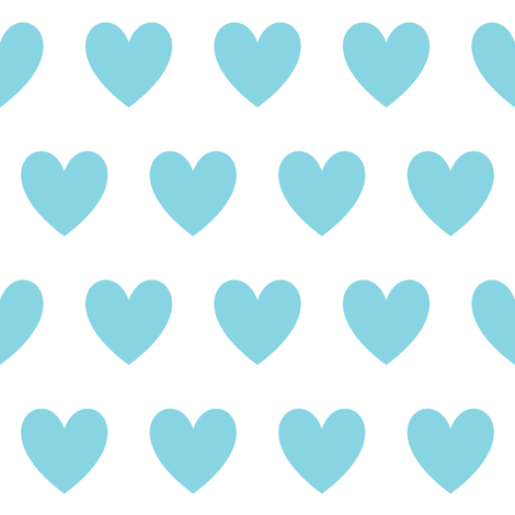 small blue hearts fabric by dani_apple on Spoonflower - custom fabric