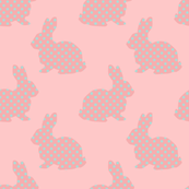 Aqua Dotted Bunnies