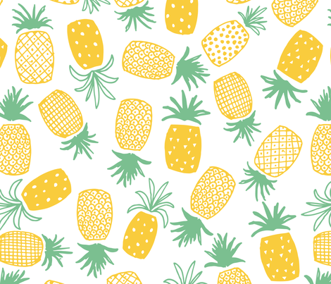 Pineapple Print (Large) fabric by shelbyallison on Spoonflower - custom fabric