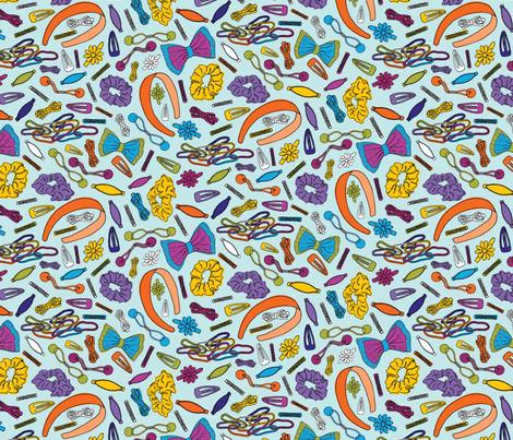 Hair Accessories--small, blue fabric by lprspr on Spoonflower - custom fabric