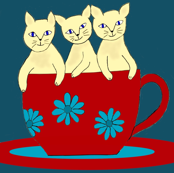 Cup Of Kitties Anyone? sewindigo
