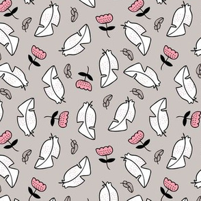 Summer feathers and flowers illustration pastel scandinavian style theme spring summer girls