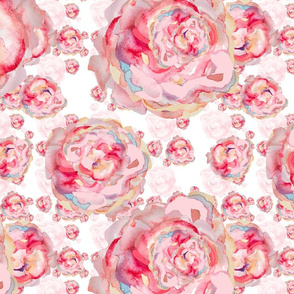 Water Color Roses Melody Five
