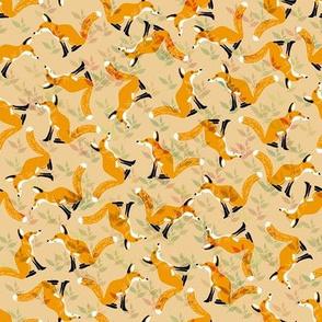 Camouflaged Foxes Orange