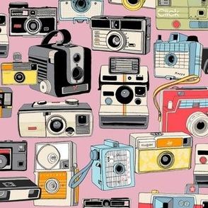Make It Snappy! (Pink) || vintage camera illustrations analog photography film photo photographer