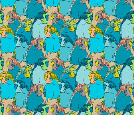 Birdie birdie nam nam #2 fabric by susiprint on Spoonflower - custom fabric
