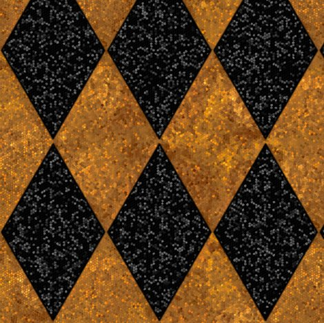 Rharlequin_diamonds___black_and_gold_mosaic___peacoquette_designs___copyright_2016_shop_preview