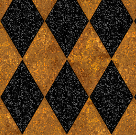 Harlequin Diamonds ~ Black and 24K Gold ~ Sequins  fabric by peacoquettedesigns on Spoonflower - custom fabric