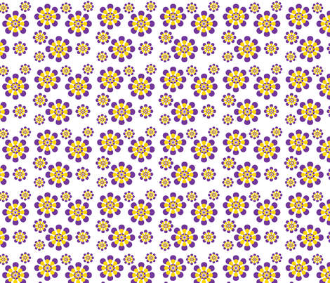 Purple and Yellow Daisies fabric by denisebeverly on Spoonflower - custom fabric