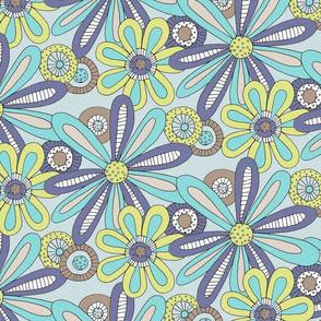 Retro Floral - by Kara Peters