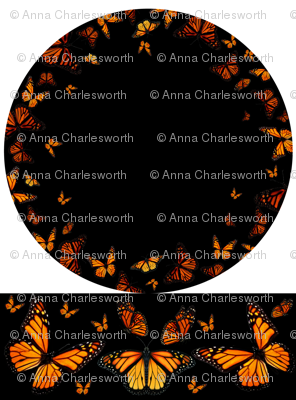 Monarch Butterfly Circle Skirt