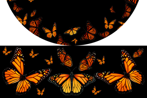 Monarch Butterfly Circle Skirt fabric by ladymoondesigns on Spoonflower - custom fabric