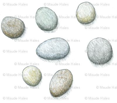 pebbles-pencil drawing