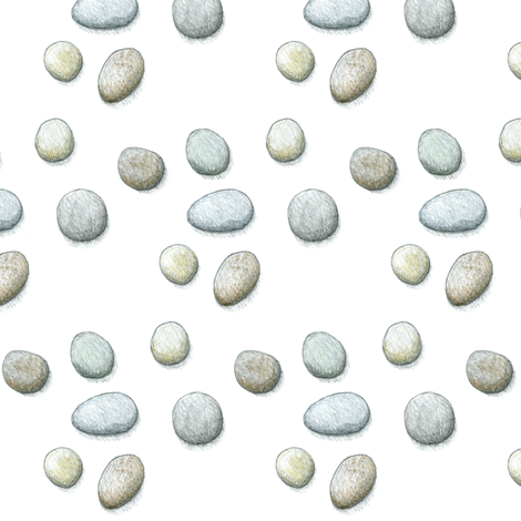 pebbles-pencil drawing fabric by melhales on Spoonflower - custom fabric