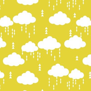 clouds rain raincloud cloud yellow bright kids nursery baby