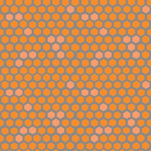 Hex spots in peach