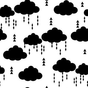 raincloud cloud clouds rain raining black and white clouds raining nursery baby