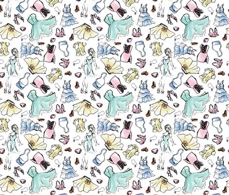 Fashion Sketches fabric by electrogiraffe on Spoonflower - custom fabric