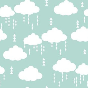 cloud clouds rain raincloud mint nursery baby kids