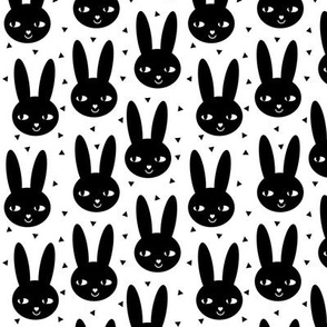 bunny head cool scandinavian style abstract black and white happy bunny ears for trendy kids baby nursery scandi nursery