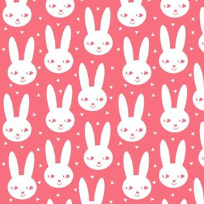happy bunny cool coral scandinavian bunny head spring easter sweet little girls abstract bunny rabbit