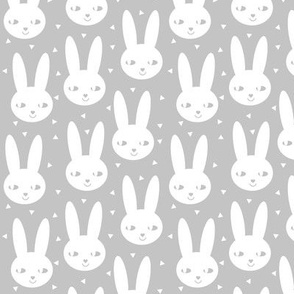 happy bunny rabbit gender neutral grey abstract cool scandinavian bunny spring summer girls clothes