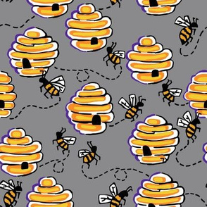 busy bees in cloud