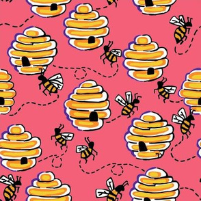 busy bees in berry