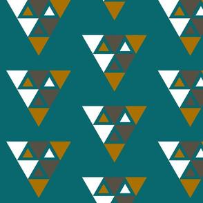 Mod Gray Gold White Triangels