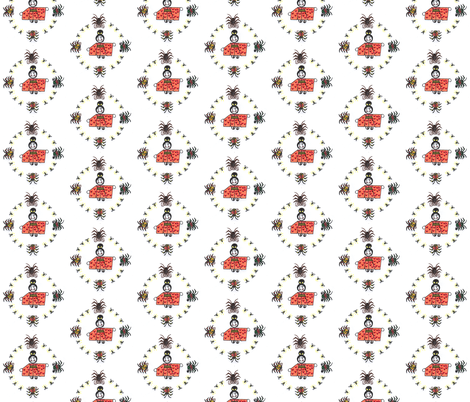 Lady_Cicada fabric by nijibeat on Spoonflower - custom fabric