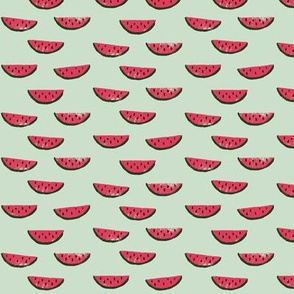CUSTOM Watermelon Fabric GREEN 1inch wide