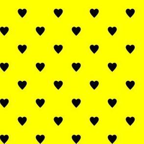Black Hearts on Yellow