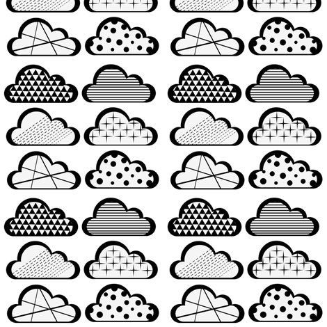 clouds fabric by lilcleo on Spoonflower - custom fabric