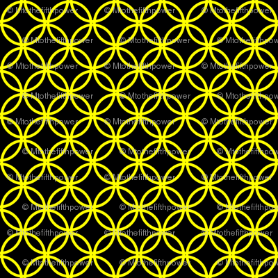 Yellow Overlapping Circles on Black