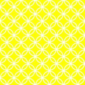 White Overlapping Circles on Yellow