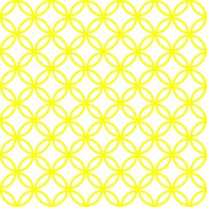 Yellow Overlapping Circles on White