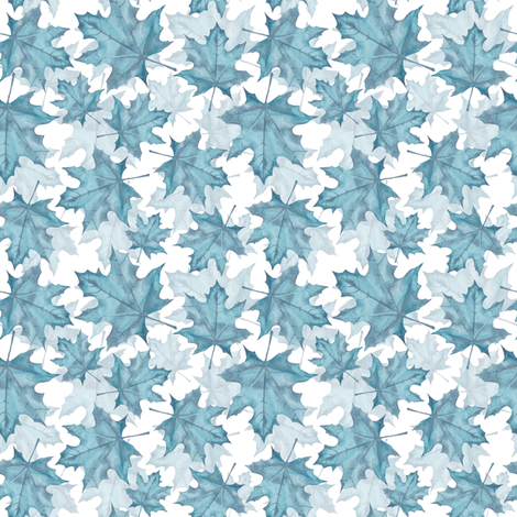 Maple leaves 9 fabric by gribanessa on Spoonflower - custom fabric