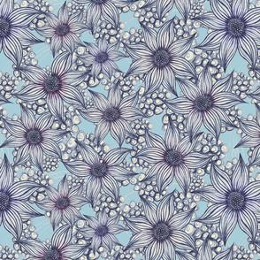 florals blue