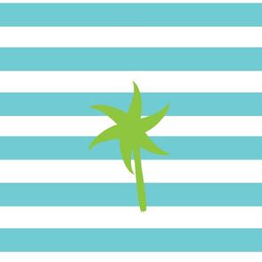 Preppy Palm Stripes XL -Seafoam Kiwi