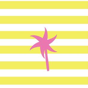 Preppy Palm Stripes XL -Lemon Berry