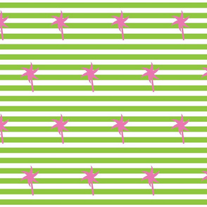 Preppy Palm Stripes MEDIUM -Kiwi Berry