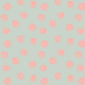 Watercolour Dots Spearmint